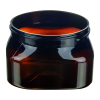6 oz. Light Amber PET Firenze Square Jar with 70/400 Neck (Cap Sold Separately)