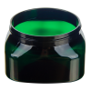 6 oz. Dark Green PET Firenze Square Jar with 70/400 Neck (Cap Sold Separately)