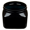 16 oz. Black PET Firenze Square Jar with 89/400 Neck (Cap Sold Separately)