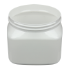 16 oz. White PET Firenze Square Jar with 89/400 Neck (Cap Sold Separately)