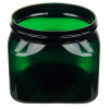 16 oz. Dark Green PET Firenze Square Jar with 89/400 Neck (Cap Sold Separately)