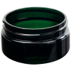 2 oz. Dark Green PET Straight Sided Jar with 58/400 Neck (Cap Sold Separately)