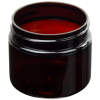 3 oz. Amber PET Straight Sided Jar with 58/400 Neck (Cap Sold Separately)