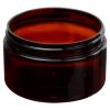 4 oz. Amber PET Straight Sided Jar with 70/400 Neck (Cap Sold Separately)