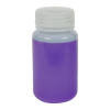 125mL HDPE Wide Mouth Pre-Cleaned Container with Certified Bar Code & Cap - Case of 72