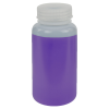 250mL HDPE Wide Mouth Pre-Cleaned Container with Certified Bar Code & Cap - Case of 72