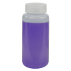 500mL HDPE Wide Mouth Pre-Cleaned Container with Certified Bar Code & Cap - Case of 48
