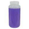 1000mL HDPE Wide Mouth Pre-Cleaned Container with Certified Bar Code & Cap - Case of 50