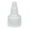 20/410 White Twist Open/Close Cap with White Tip
