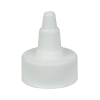 28/400 White Twist Open/Close Cap with White Tip