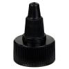24/400 Black Twist Open/Close Cap with Black Tip