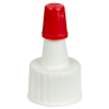 15/415 White Yorker Spout Cap with Regular Red Tip