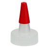 28/400 Natural Yorker Spout Cap with Long Red Tip