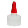 28/410 Natural Yorker Spout Cap with Long Red Tip