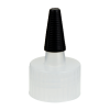 28/410 Natural Yorker Spout Cap with Long Black Tip