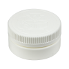 4 oz. White HDPE Low Profile Jar with White 70/400 CRC Cap