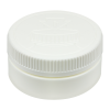 8 oz. White HDPE Low Profile Jar with White 89/400 CRC Cap