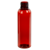 2 oz. Red Amber PET Cosmo Round Bottle with 20/410 Neck (Cap Sold Separately)