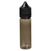 50mL Transparent Black PET Unicorn Bottle with Black CRC/TE Cap