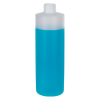 16 oz. Natural Cylinder Bottle with 24/410 Neck (Cap sold Separately)