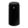 Satin Black PVC Wine Bottle Shrink Capsules