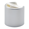 24/410 Brushed Silver & White Disc Dispensing Cap