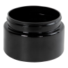 6 oz. Black PET Low Profile Jar with 70/400 Neck (Caps sold separately)