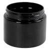 8 oz. Black PET Low Profile Jar with 70/400 Neck (Caps sold separately)