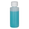 2 oz. Natural HDPE Cylindrical Sample Bottle with 20/400 CRC Cap