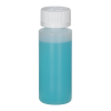 2 oz. Natural HDPE Cylindrical Sample Bottle with 24/400 CRC Cap