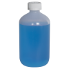 16 oz. LDPE Boston Round Bottle with 28/410 CRC Cap