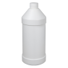 32 oz. White Modern Round Bottle with 28/410 Cap