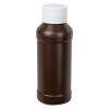 4 oz. Brown Modern Round Bottle with 28/410 Cap