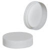 43/400 White Smooth Polypropylene Smooth Cap with SureSeal® 222 Liner