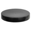 89/400 Black Polypropylene Smooth Cap with PE Foam Liner