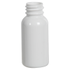 1 oz. White PET Traditional Boston Round Bottle with 20/400 & 410 Neck (Cap Sold Separately)