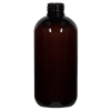 8 oz. Light Amber PET Traditional Boston Round Bottle with 24/410 Neck (Cap Sold Separately)