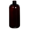 12 oz. Light Amber PET Traditional Boston Round Bottle with 24/410 Neck (Cap Sold Separately)