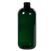 12 oz. Dark Green PET Traditional Boston Round Bottle with 24/410 Neck (Cap Sold Separately)