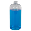 16 oz. Clear PET Traditional Boston Round Bottle with 24/410 Neck (Cap Sold Separately)