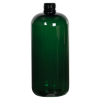 16 oz. Dark Green PET Traditional Boston Round Bottle with 24/410 Neck (Cap Sold Separately)