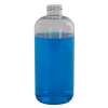 16 oz. Clear PET Traditional Boston Round Bottle with 28/410 Neck (Cap Sold Separately)