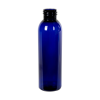 4 oz. Cobalt Blue PET Cosmo Round Bottle with 24/410 Neck (Cap Sold Separately)