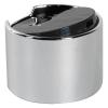 24/410 Silver & Black Disc Oversized Dispensing Cap