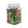 64 oz. Clear PET Square Pinch Grip-It Jar with 110/400 Cap