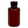 125mL Nalgene™ Narrow-Mouth Translucent Amber HDPE Bottle with 24/415 Cap