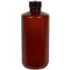500mL Nalgene™ Narrow-Mouth Translucent Amber HDPE Bottle with 28/415 Cap