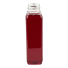 12 oz. wh square pet beverage bottle with 38mm dbj neck