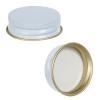 33/400 White/Gold Metal Cap with Full Cover Plastisol Liner