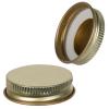 38/400 Gold Metal Cap with Plastisol Liner